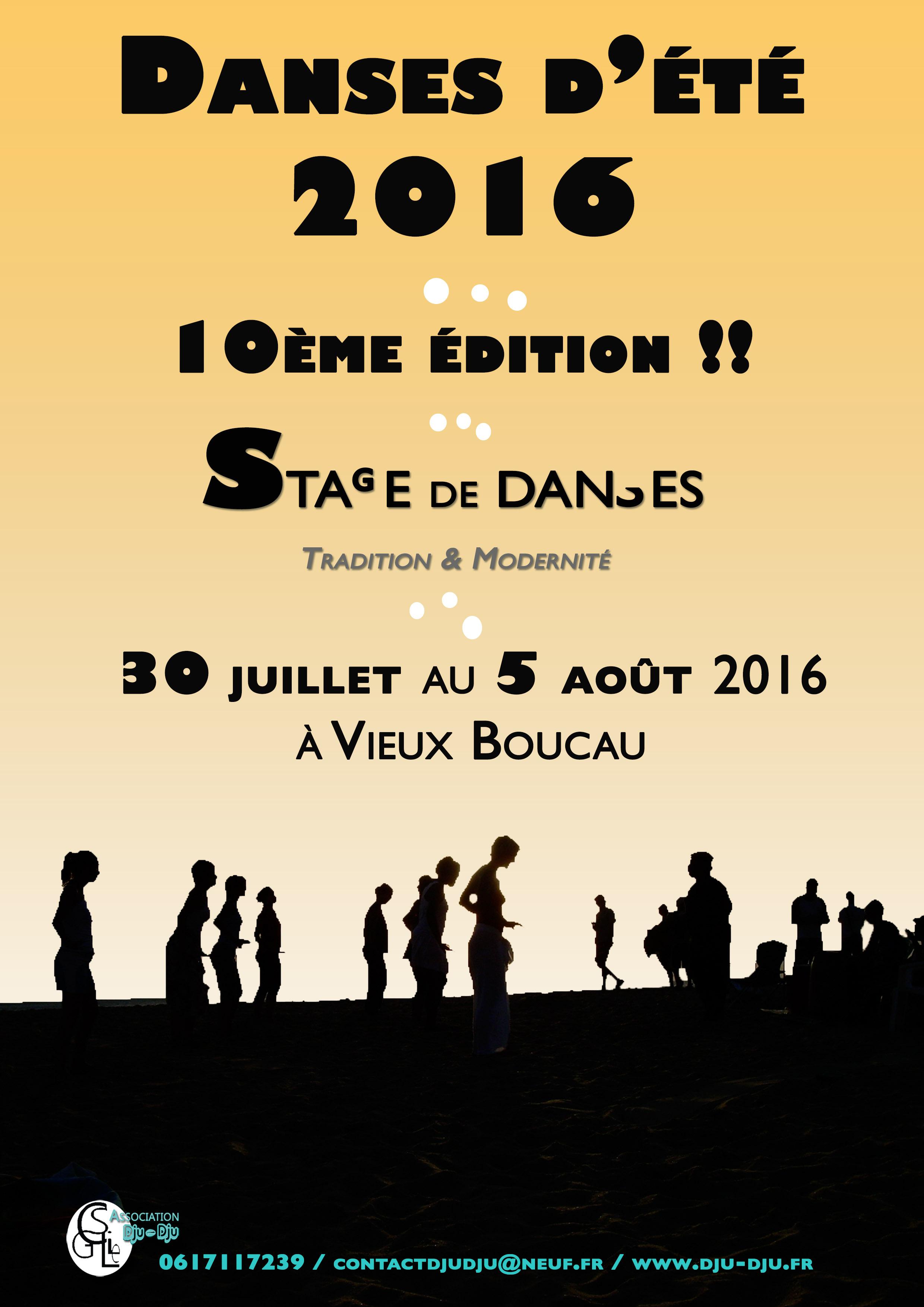 Danses d'été 2016, la 10ème édition
