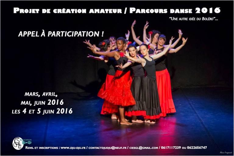 Projet de création amateur /Parcours danse 2016